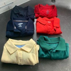 6 Boys Uniform Shirts